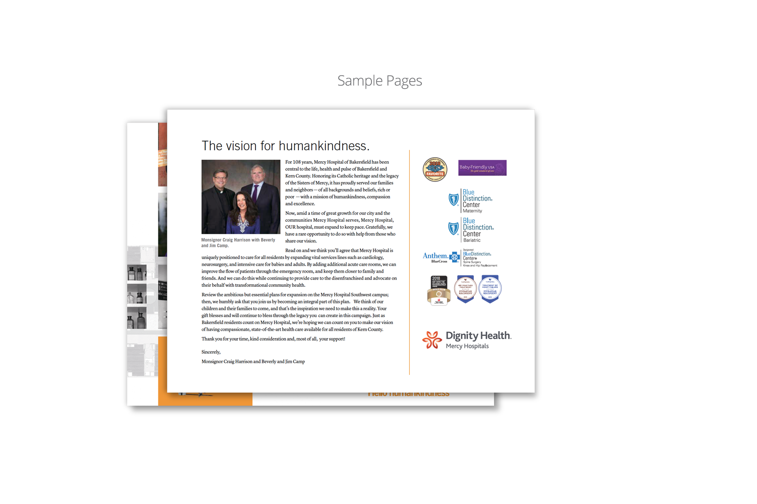Capital Campaign Brochure for Dignity Health_sample page 1