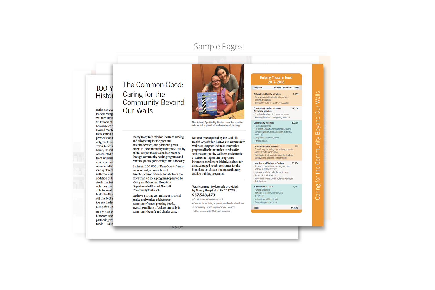 Capital Campaign Brochure for Dignity Health_sample page 4