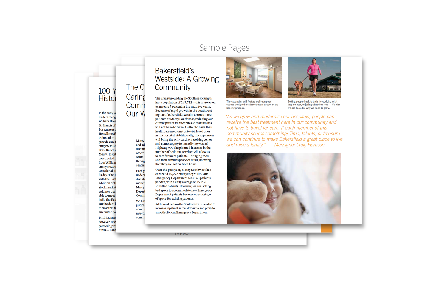Capital Campaign Brochure for Dignity Health_sample page 5