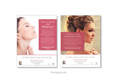 DMI creates rhinoplasty print ads for MB Stevens, board-certified plastic surgeon 1