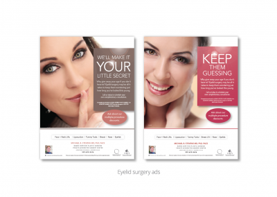 DMI creates eyelid surgery print ads for MB Stevens, board-certified plastic surgeon 1