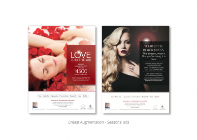 DMI creates seasonal print ads for MB Stevens, board-certified plastic surgeon 1