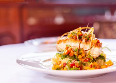 DMI Agency Food Photography, Fish With Mango Salsa, entree