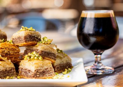 Food Photography_Craft Beer and Baclava