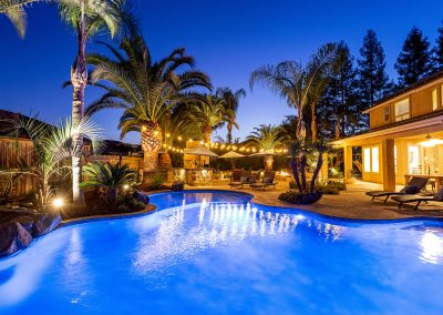 Residential Marketing Photography_Pool, Night, Home Tour