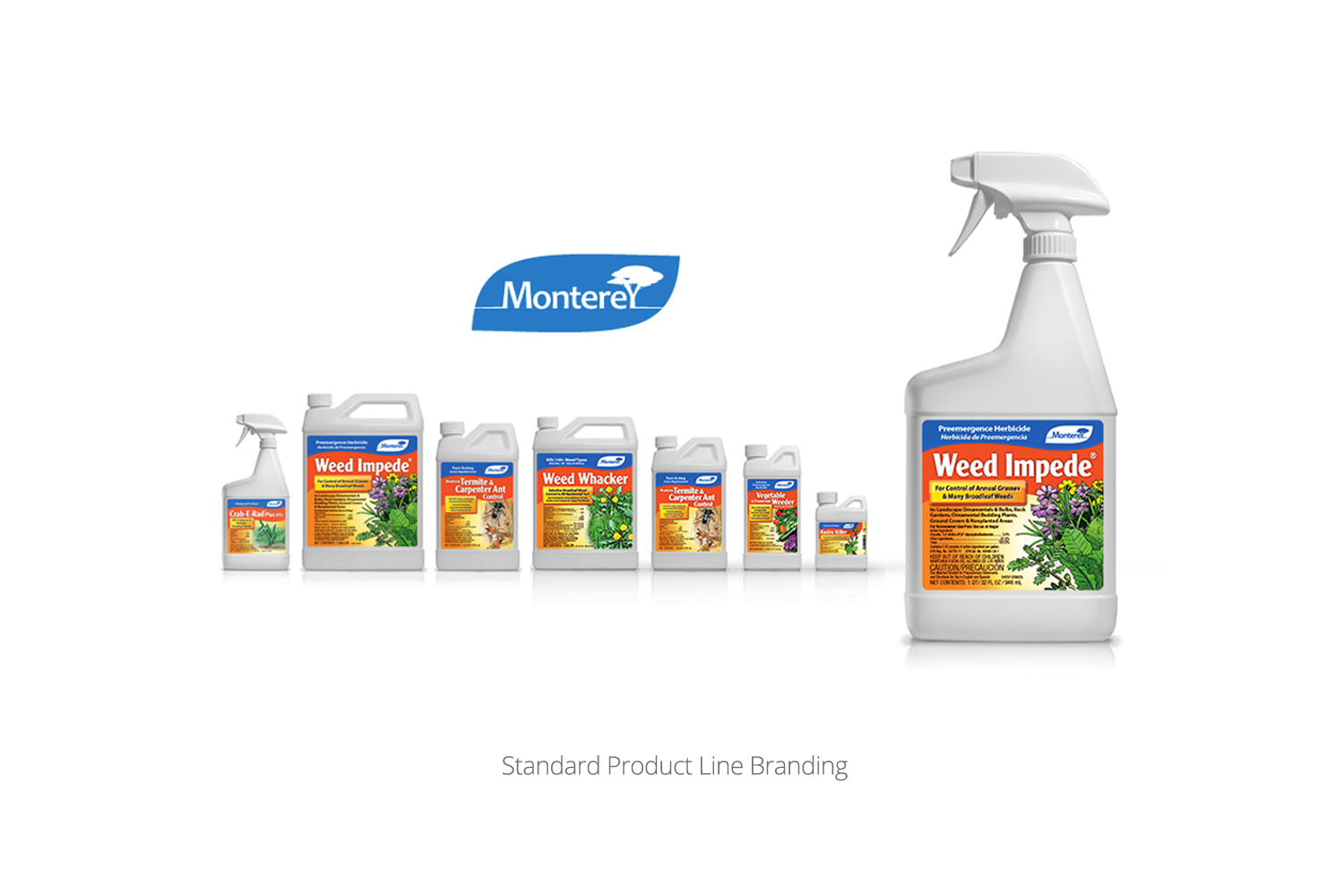 DMI Agency branding for Monterey Lawn Garden product line, standard products