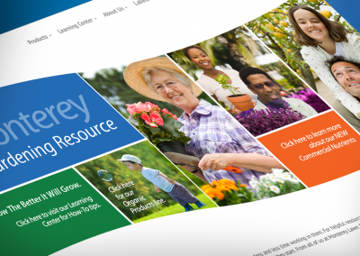 DMI Agency design for Monterey Lawn Garden website - project