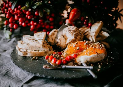 DMI Agency, Food Photography, Holiday Bread and Cheese Plate